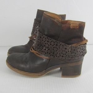 Pikolinos Distressed Leather Booties Women's 37/7